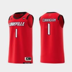 Men Louisville Cardinals Christen Cunningham Red Replica College Basketball Jersey