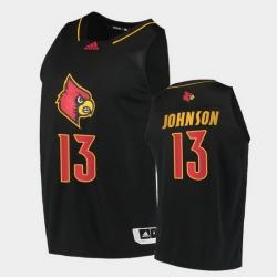 Men Louisville Cardinals David Johnson Alternate Black College Basketball 2020 21 Jersey