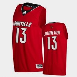 Men Louisville Cardinals David Johnson College Basketball Red Swingman 2020 21 Jersey