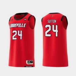 Men Louisville Cardinals Dwayne Sutton Red Replica College Basketball Jersey