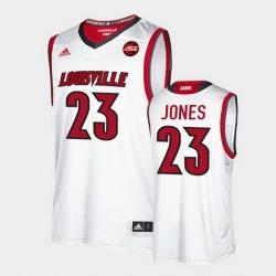 Men Louisville Cardinals Jazmine Jones Replica White 2020 Draft Jersey
