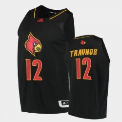 Men Louisville Cardinals Jj Traynor Alternate Black College Basketball 2020 21 Jersey