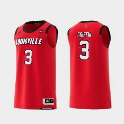 Men Louisville Cardinals Jo Griffin Red Replica College Basketball Jersey