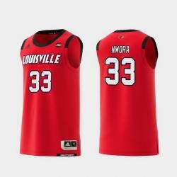 Men Louisville Cardinals Jordan Nwora Red Replica College Basketball Jersey