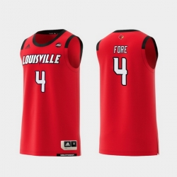 Men Louisville Cardinals Khwan Fore Red Replica College Basketball Jersey