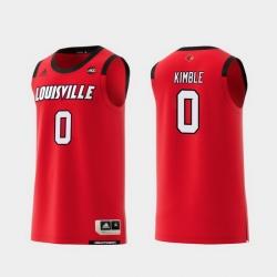 Men Louisville Cardinals Lamarr Kimble Red Replica College Basketball Jersey
