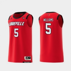 Men Louisville Cardinals Malik Williams Red Replica College Basketball Jersey