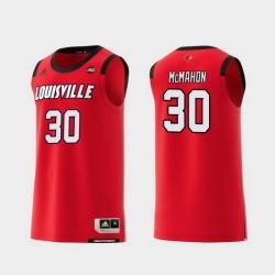 Men Louisville Cardinals Ryan Mcmahon Red Replica College Basketball Jersey