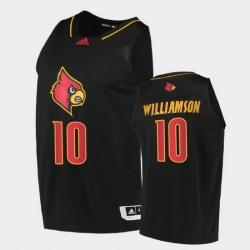 Men Louisville Cardinals Samuell Williamson Alternate Black College Basketball 2020 21 Jersey
