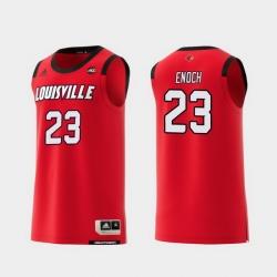 Men Louisville Cardinals Steven Enoch Red Replica College Basketball Jersey