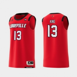 Men Louisville Cardinals V.J. King Red Replica College Basketball Jersey