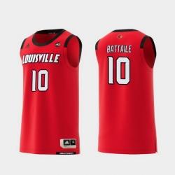 Men Louisville Cardinals Wyatt Battaile Red Replica College Basketball Jersey