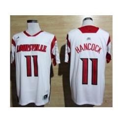ncaa Louisville Cardinals #11 2013 March Madness Luke Hancock Authentic Jersey White