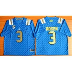 UCLA Bruins #3 Josh Rosen Blue PAC 12 Patch Stitched NCAA Jersey