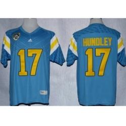 UCLA Bruins Brett Hundley #17 Techfit College Football Jersey Light Blue
