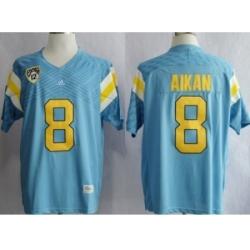 UCLA Bruins Troy Aikman #8 Techfit College Football Jersey Light Blue