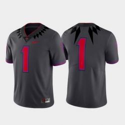 Men Tcu Horned Frogs 1 Gray Limited Alternate Football Jersey