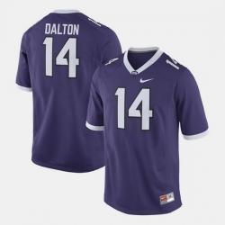 Men Tcu Horned Frogs Andy Dalton Alumni Football Game Purple Jersey