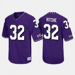 Men Tcu Horned Frogs Brandon Ritchie Throwback Purple Jersey