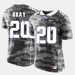 Men Tcu Horned Frogs Deante Gray College Football Grey Jersey