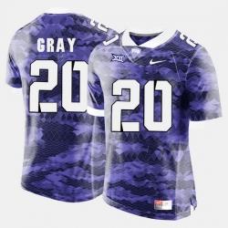 Men Tcu Horned Frogs Deante Gray College Football Purple Jersey