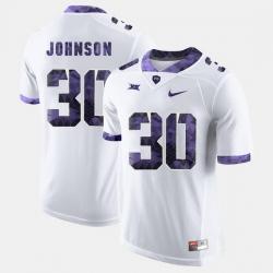 Men Tcu Horned Frogs Denzel Johnson College Football White Jersey