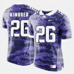 Men Tcu Horned Frogs Derrick Kindred College Football Purple Jersey