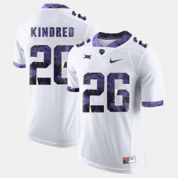 Men Tcu Horned Frogs Derrick Kindred College Football White Jersey