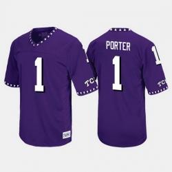 Men Tcu Horned Frogs Emanuel Porter Throwback Purple Jersey