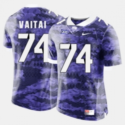 Men Tcu Horned Frogs Halapoulivaati Vaitai College Football Purple Jersey