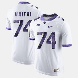 Men Tcu Horned Frogs Halapoulivaati Vaitai College Football White Jersey