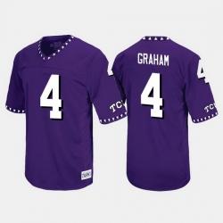 Men Tcu Horned Frogs Isaiah Graham Throwback Purple Jersey
