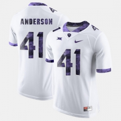 Men Tcu Horned Frogs Jonathan Anderson College Football White Jersey