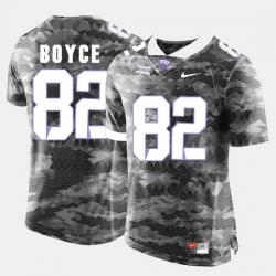 Men Tcu Horned Frogs Josh Boyce College Football Grey Jersey