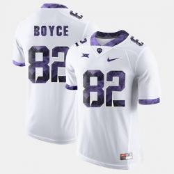 Men Tcu Horned Frogs Josh Boyce College Football White Jersey