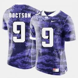 Men Tcu Horned Frogs Josh Doctson College Football Purple Jersey