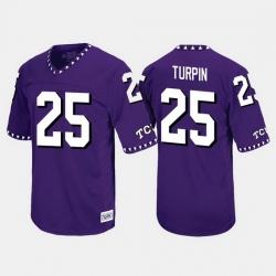 Men Tcu Horned Frogs Kavontae Turpin Throwback Purple Jersey