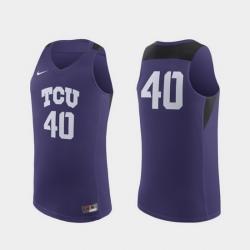 Men Tcu Horned Frogs Purple Replica College Basketball Nike Jersey