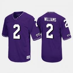 Men Tcu Horned Frogs Taj Williams Throwback Purple Jersey