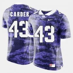 Men Tcu Horned Frogs Tank Carder College Football Purple Jersey