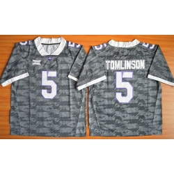 TCU Horned Frogs #5 LaDainian Tomlinson Grey Stitched NCAA Jersey