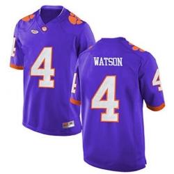 Clemson #4 Deshaun Watson Purple 2017 National Championship Bound Limited Jersey