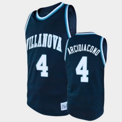Men Villanova Wildcats Chris Arcidiacono Alumni Navy College Baketball Jersey