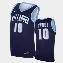 Men Villanova Wildcats Cole Swider Replica Navy College Basketball Jersey