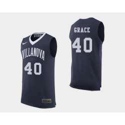 Men Villanova Wildcats Denny Grace Navy College Basketball Jersey