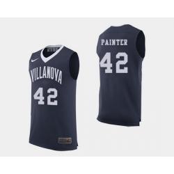 Men Villanova Wildcats Dylan Painter Navy College Basketball Jersey