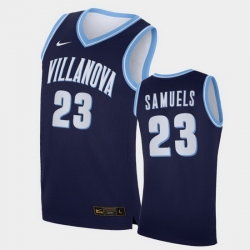 Men Villanova Wildcats Jermaine Samuels Replica Navy College Basketball Jersey