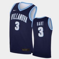 Men Villanova Wildcats Josh Hart Replica Navy College Basketball Jersey