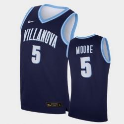 Men Villanova Wildcats Justin Moore Replica Navy College Basketball Jersey