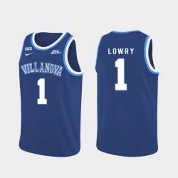 Men Villanova Wildcats Kyle Lowry Blue Authentic College Basketball Jersey